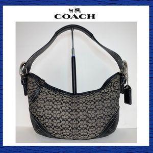 Coach Jacquard Leather Black Small Signature Soho